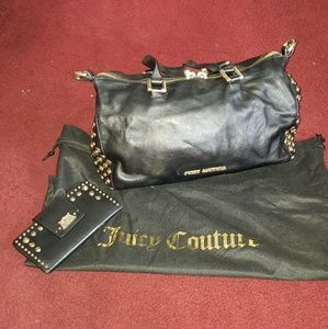 Juicy Couture leather shoulder bag and wallet